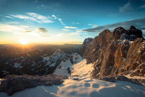 Salzkammergut「Austria, Salzkammergut, Sunset at Dachstein mountains」:スマホ壁紙(6)