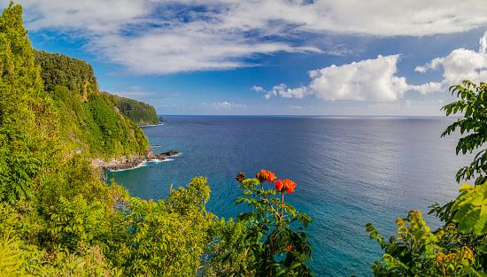 Volcanic Rock「Coastal scenery beside the Road To hana,Maui,Hawaii,USA」:スマホ壁紙(17)