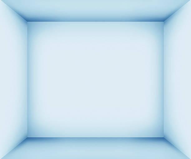 XXXL Blue empty room interior:スマホ壁紙(壁紙.com)