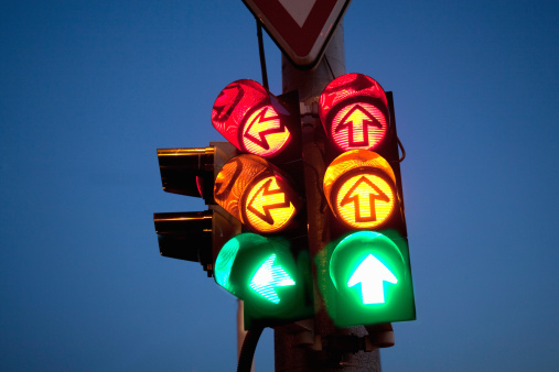 Contrasts「Traffic sign at night.」:スマホ壁紙(10)