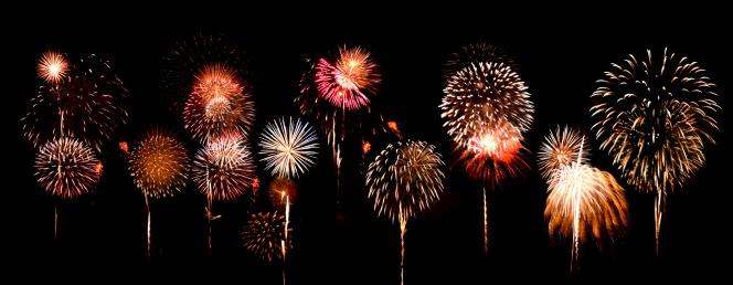 Single Word「Fantastic and colorful fireworks display」:スマホ壁紙(5)