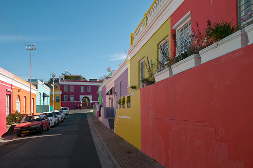 Malay Quarter「The colorful houses of Bo-Kaap in Cape Town.」:スマホ壁紙(2)