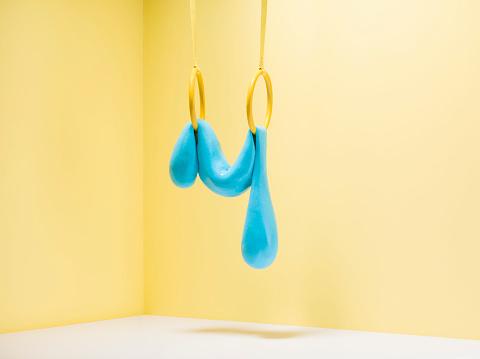 Dribbling - Sports「Blue slime on gymnastic rings」:スマホ壁紙(7)