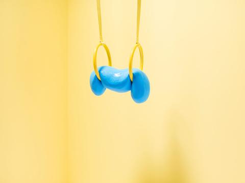 Dribbling - Sports「Blue slime on gymnastic rings」:スマホ壁紙(12)