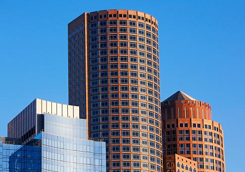 Postmodern「Architectural detail of Postmodern skyscrapers in downtown Boston」:スマホ壁紙(6)