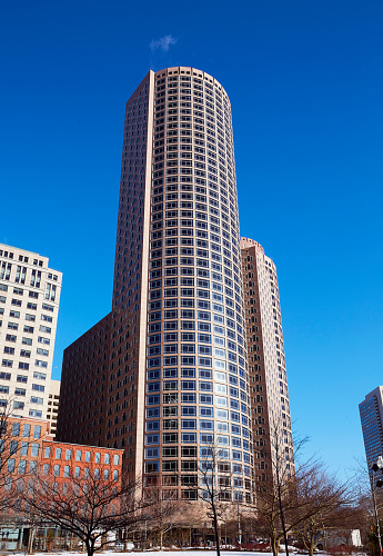 Postmodern「Architectural detail of Postmodern skyscrapers in downtown Boston」:スマホ壁紙(9)