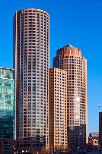 Postmodern「Architectural detail of Postmodern skyscrapers in downtown Boston」:スマホ壁紙(7)