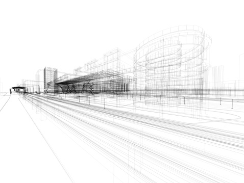 Drawing - Art Product「3D architecture abstract」:スマホ壁紙(15)