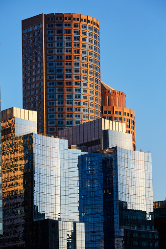 Postmodern「Architectural detail of modern and postmodern skyscrapers in Boston」:スマホ壁紙(8)