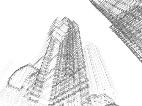 Printout「Architecture Sketch」:スマホ壁紙(1)