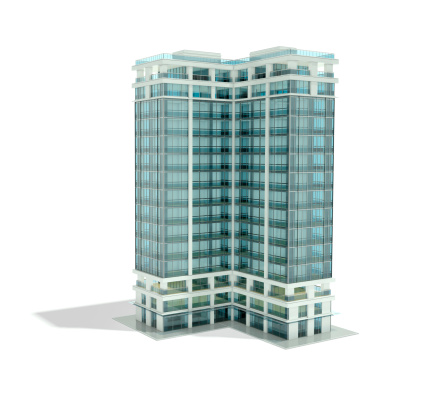 Tower「Architectural rendering of office building」:スマホ壁紙(7)