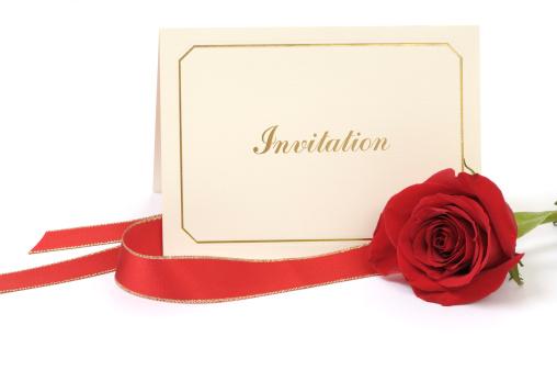 Wedding Invitation「Blank Invitation card with rose」:スマホ壁紙(2)