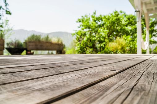 Plank - Timber「Empty wooden terrace」:スマホ壁紙(4)
