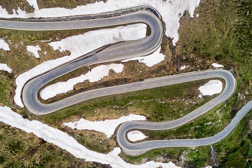 Hairpin Curve「Switzerland, Valais, Nufenen Pass」:スマホ壁紙(3)