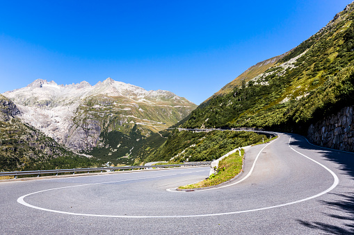 Hairpin Curve「Switzerland, Valais, Rhone glacier and Furka pass」:スマホ壁紙(5)