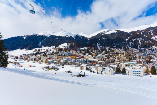 Ski Resort「Switzerland, View of Jakobshornbahn」:スマホ壁紙(16)