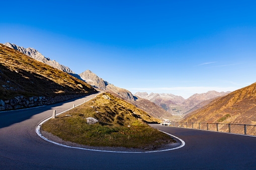 Hairpin Curve「Switzerland, Valais, Alps, Furka pass, hairpin bend」:スマホ壁紙(8)