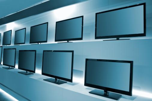 Liquid-Crystal Display「TV Store with rows of LDC TVs」:スマホ壁紙(18)