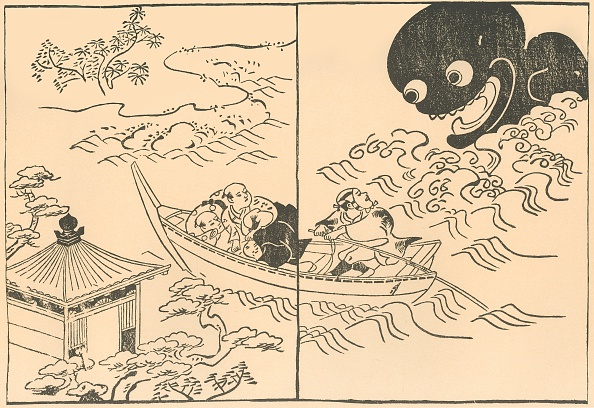 Horror「Men In A Boat Threatened By A Sea Monster」:写真・画像(12)[壁紙.com]