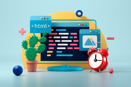 Design Element「Web design development and coding concept」:スマホ壁紙(9)