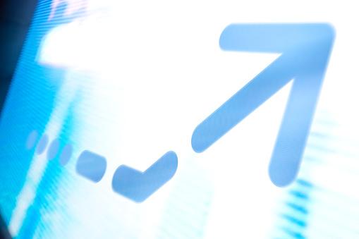 Quantum Computing「Arrow on abstract graphic background」:スマホ壁紙(7)