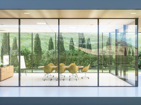 Business Meeting「Exterior of a build contemporary office」:スマホ壁紙(5)