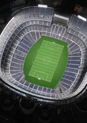 Stadium「Empty Soccer Stadium, Aerial View」:スマホ壁紙(0)