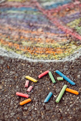 Chalk - Art Equipment「Chalk drawing」:スマホ壁紙(1)