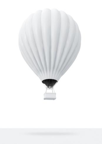 Mid-Air「White Hot-Air Balloon」:スマホ壁紙(1)