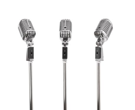 Old-fashioned「Three of a kind - Retro Microphones (+clipping paths, XXL)」:スマホ壁紙(16)