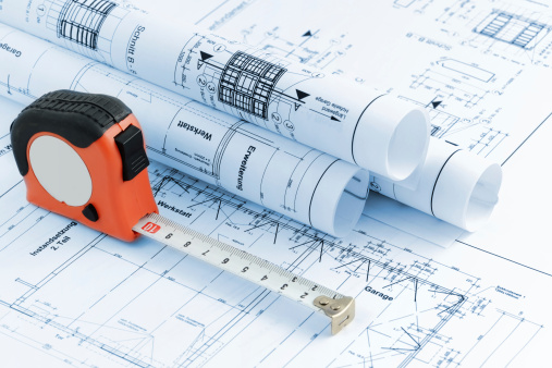Printout「blueprint plan of house building with tape measure」:スマホ壁紙(13)