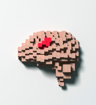 Intelligence「Brain disease made of wooden blocks」:スマホ壁紙(5)
