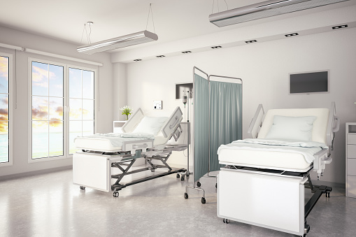 Two Objects「Adjustable Patient Beds in Hospital Room」:スマホ壁紙(11)
