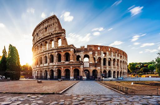 Monument「Colosseum in Rome during sunrise」:スマホ壁紙(11)