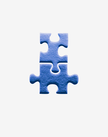 Bonding「Two jigsaw pieces joined together」:スマホ壁紙(14)