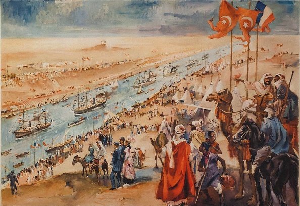 Canal「Inauguration Ceremony Of The Suez Canal At Port-Said」:写真・画像(1)[壁紙.com]