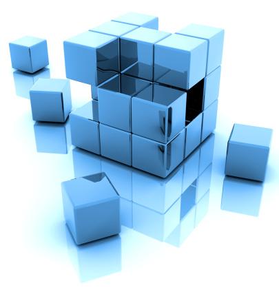 Bundle「An illustration of a blue 3D blocks with a reflection」:スマホ壁紙(10)