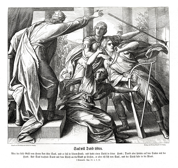 1900「Saul tries to kill David」:写真・画像(1)[壁紙.com]