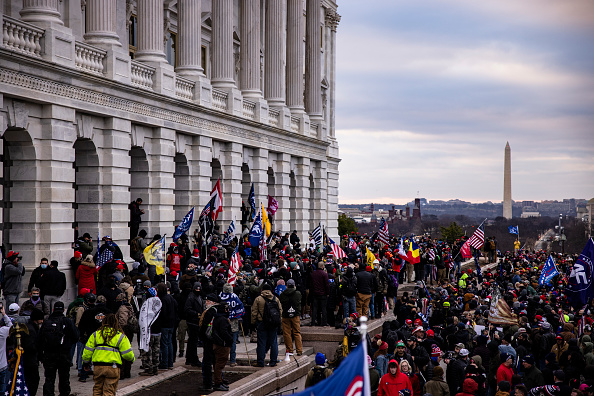 """Capitol Hill「Trump Supporters Hold """"Stop The Steal"""" Rally In DC Amid Ratification Of Presidential Election」:写真・画像(1)[壁紙.com]"""