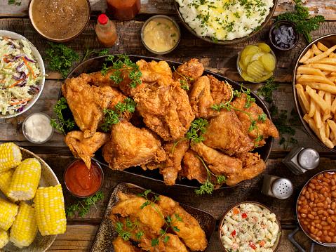 Crunchy「Fried Chicken Feast」:スマホ壁紙(7)