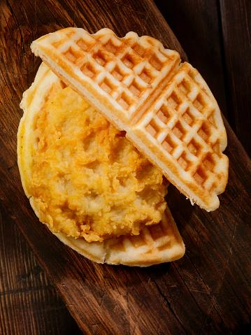 Chicken Wing「Fried Chicken and Waffle Sandwich」:スマホ壁紙(2)