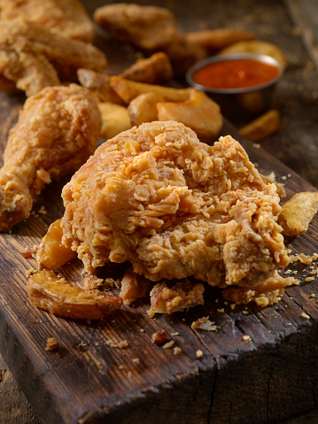 Chicken Wing「Fried Chicken and Fries」:スマホ壁紙(10)