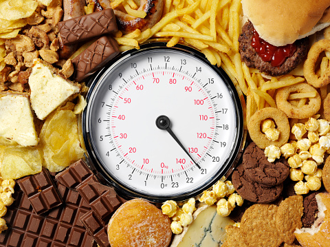 Cheeseburger「Weighing scale with high-calorie food items」:スマホ壁紙(16)
