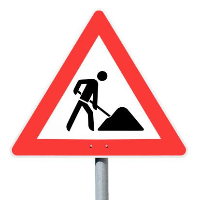 Guidance「Achtung Baustelle, road construction site, german traffic sign」:スマホ壁紙(16)