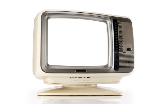 1980-1989「Retro TV With Clipping Path」:スマホ壁紙(2)