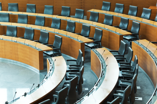 Convention Center「Oval conference room with rows of seats」:スマホ壁紙(18)