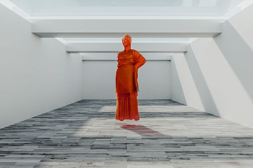 God「Low poly abstract statue of Athena」:スマホ壁紙(3)
