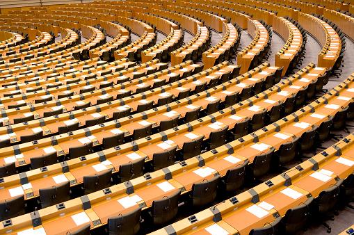 Politics「Empty Assembly Room Seat of European Parliament Brussels」:スマホ壁紙(0)