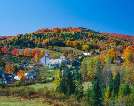 グリーン山脈「バーモントの秋」:スマホ壁紙(6)