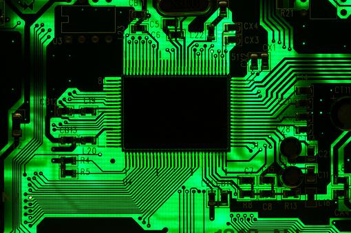 Mother Board「Microprocessor on a back lit circuit board」:スマホ壁紙(13)